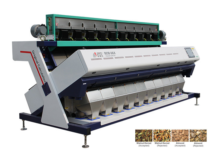 Artificial Intelligent Nuts Color Sorter High Performance And Low Power Consumption