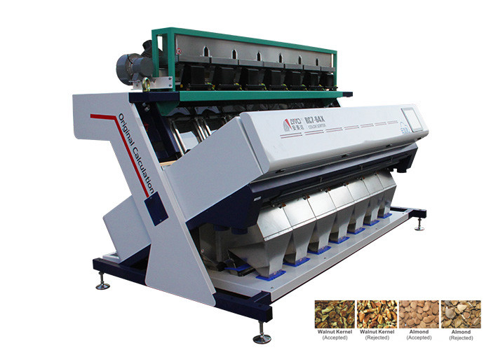 Precise Automatic Nut Sorting Machine , Stabilization Guaranteed Pulses Sorting Machine